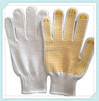 2014 ADTO GROUP Factory Supply durable 100% cotton industrial gloves knitted white hand safety glove
