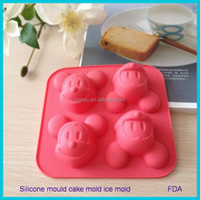 Cupcake Liners baking set Cartoon mouse Candy Ice Cake Chocolate Sugar Craft Fondant Molds Tray Silicone cake moulds molds