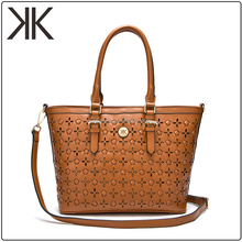 OEM ODM Elegant fashion lady tote bag geniune leather handbag