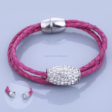 2014 Wholesale Leather Bracelet China Top 5 Fashion Jewelry Manufacture Custom Leather Stingray Bracelet with High Quality