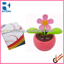 flip flap car promotion gift solar energy flower