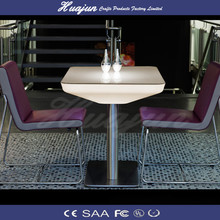 plastic high bar table and plastic chair and LED plastic bar table