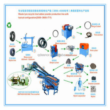 Full automatic tire recycling machine used to make rubber powder granule