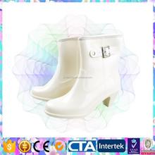 fashion style high heel ladies rain shoes