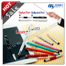 iT05 telescopic stylus pens for touch screens fashion design metal ballpoint laser pen