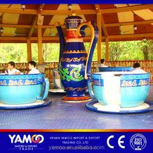Hot children activity amusement theme park coffee cup/ fun theme parks rides for sale