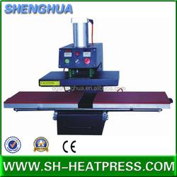 Semi-automatic pneumatic lanyard heat press machine