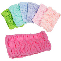 F04711 Stretch Cotton Hair Band Snood lace Hairlace Headband For Woman Girl Beauty Washing Shower Bath