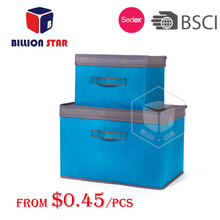 non woven foldable storage box with lid,decorative storage box with lid