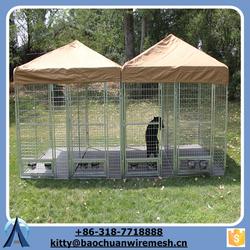 Baochuan-- Powder coated square tube dog cage 2-room 2-door