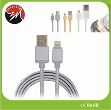 New Arrival 2M 2.4A Braided MFI Cable USB For iPhone 5/6/iPad MFI Cable iOS 8.3