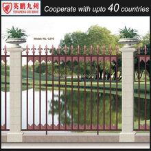 Decorative prefabricated metal fence palisade fence slats aluminium fence