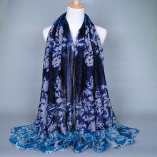 Women TOP Fashion Fire Flower Printed Scarf Shawls Scarves Female Wrap Muslim180*90 Pashimina shawls
