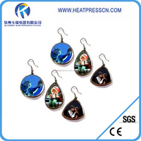 2014 new arrival hot sales sublimation printing ear ring at round shape
