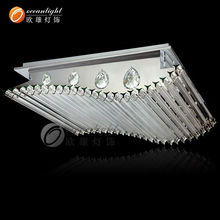 Stainless Steel Modern smooth Luxurious Crystal ceiling light Om7711