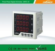 72*72mm Factory Price LED Display AC Three-Phase Digital Ampere Meter