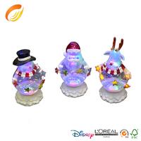 Acrylic decorative Snow man with lantern for Christmas