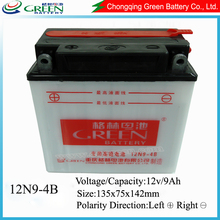 Green brand 12V 9Ah lead acid battery for motorcycle from Chinese Manufacture
