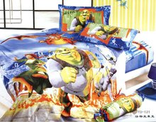 printed 4pcs bedding set/cartoon bedsheet for children