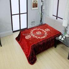 High quality acrylic mink blanket 160*220cm /polyester blanket