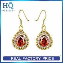 Best quality best sell real gold earring stud