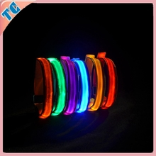LED Wristband Flashing Bracelets&LED Wristband Flashing&Custom Festival Fabric Wristbands