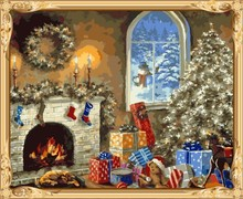 GX7431 christmas hot photo diy oil painting by numbers