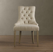 American style martine tufted fabric armchair,button tufted back,upholstered comfortable arm chair/YJ-180