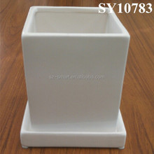 desktop popular colorful mini square ceramic pot