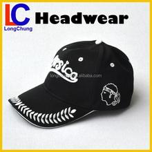 sandwich visor 3d embroidery logo sports baseball hat and cap