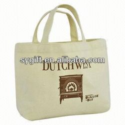 2014 cheapest full color custom printed canvas tote bags