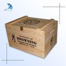 wholesale retro laser engraving sliding lid bamboo wine chest