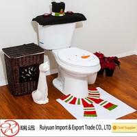 2015 Alibaba new arrival!!! Supercute snowman design 4 pcs Christmas toilet set for promotion