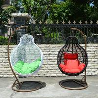 rattan indoor outdoor hanging chair canopy patio swing