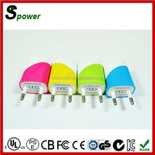 Multiple Color for choice 5V 1A 5W Travel Plug Adapter