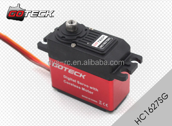 Goteck high torque high voltage dc servo motor HC1627SG with 26/29kg-cm for Car model/ fixed-wing aircraft/ helicopter/ Robot
