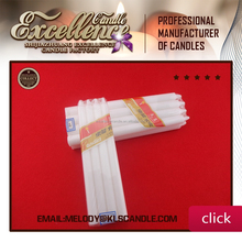 White candle clear sky brand from China candle factory /melody 0086-13472141483