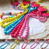 New Kids Baby Girls Set Party Jewelry Princess Colorful Beads Necklace&Bracelet