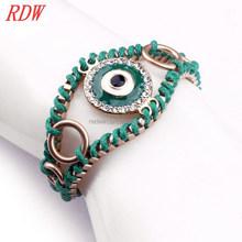 Rdw joyas pulsera hechos a mano joyas pulsera mal de ojo diseño para las niñas de moda la joyería del ojo turco