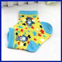 2015 OEM High Quality 100% Cotton Printing Wholesale Non Slip Kid Tube Sock
