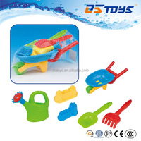 Kids Beach Wheelbarrow with Plastic Watering Can Shovel Spoon