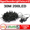 UL approved plug 30m 200leds warm white led string light led christmas string light led chasing christmas lights 8 flash modes