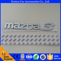 Car ABS Chrome Silver Rear Trunk Emblem For Mazda 3 3D Letter Sticker M3 Tail Badge