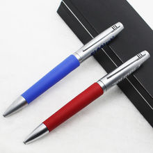 HH-5680 Promotional ballpoint pen feature metal roller pen with leather ball pen
