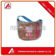 children handbag with cat image