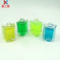 30ml trapezoid shape design your own crystal perfume bottle with spray