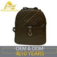 fashion young bag grid line lady backbag more pocket bag