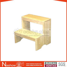 Cubby Plan ST-011 Hot Sale New Style Kids Furniture Solid Wood Kids Stool