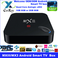 Quad Core MXIII Android TV Box Indian IPTV Arabic IPTV MX3 TV Box No Monthly Payment 2G DDR/8G ROM