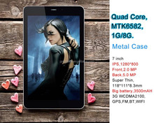 Cheap High-End 7 inch Tab with Sim Slot 3G Phone Calling 5MP Camera IPS Screen
